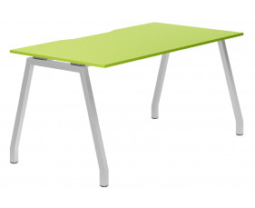 Campos A-Frame Single Bench Desk (Green)