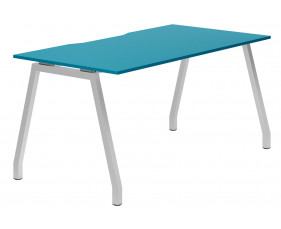 Campos A-Frame Single Bench Desk (Light Blue)