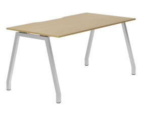 Lozano A-Frame Single Bench Desk (Natural Oak)