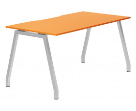 Campos A-Frame Single Bench Desk (Orange)