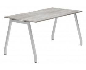 Lasso A-Frame Single Bench Desk (Platinum Oak)