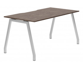 Lasso A-Frame Single Bench Desk (Pitted Steel)