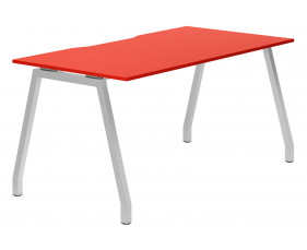 Campos A-Frame Single Bench Desk (Red)