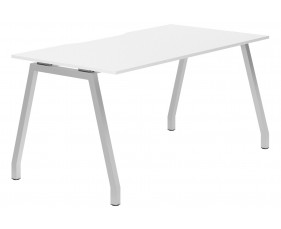 Campos A-Frame Single Bench Desk (White)