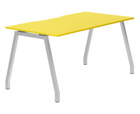 Campos A-Frame Single Bench Desk (Yellow)