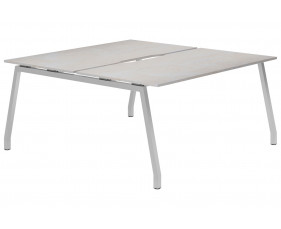 Lasso A-Frame 2 Person Back To Back Bench Desk (Concrete)