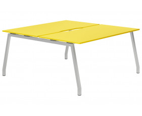 Campos A-Frame 2 Person Back To Back Bench Desk (Yellow)