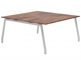 Lasso A-Frame 6-8 Person Meeting Table (Rusted Steel)