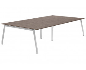 Lasso A-Frame 10-12 Person Meeting Table (Pitted Steel)