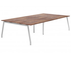 Lasso A-Frame 10-12 Person Meeting Table (Rusted Steel)