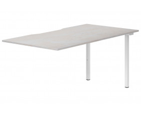 Lasso Single Add-On Bench Desk (Concrete)
