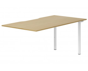Lozano Single Add-On Bench Desk (Natural Oak)
