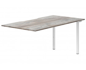 Lasso Single Add-On Bench Desk (Platinum Oak)