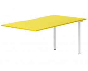 Campos Single Add-On Bench Desk (Yellow)
