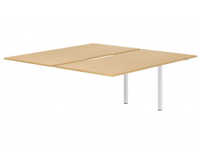 Lozano Back To Back Add On Bench Desk (Beech)
