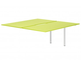 Campos Back To Back Add On Bench Desk (Green)