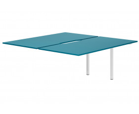 Campos Back To Back Add On Bench Desk (Light Blue)