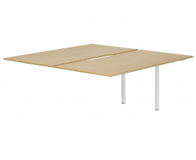 Lozano Back To Back Add On Bench Desk (Natural Oak)