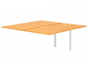 Campos Back To Back Add On Bench Desk (Orange)