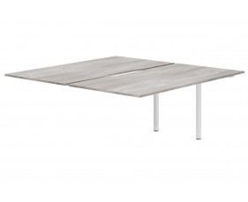 Lasso Back To Back Add On Bench Desk (Platinum Oak)