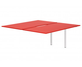 Campos Back To Back Add On Bench Desk (Red)