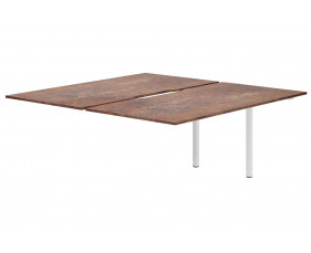 Lasso Back To Back Add On Bench Desk (Rusted Steel)