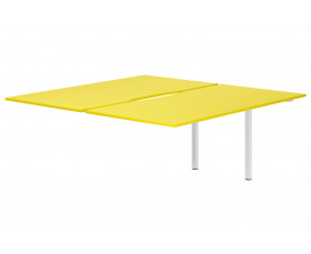 Campos Back To Back Add On Bench Desk (Yellow)