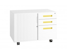 Solero Steel Storage Caddy (Yellow)