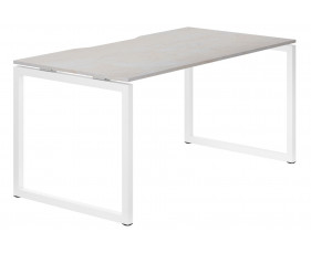 Lasso Hooped Leg Single Bench Desk (Concrete)