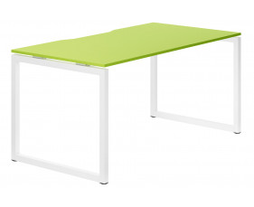 Campos Hooped Leg Single Bench Desk (Green)