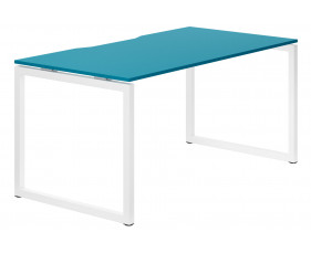 Campos Hooped Leg Single Bench Desk (Light Blue)