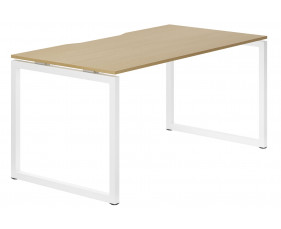 Lozano Hooped Leg Single Bench Desk (Natural Oak)
