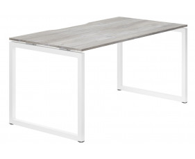Lasso Hooped Leg Single Bench Desk (Platinum Oak)