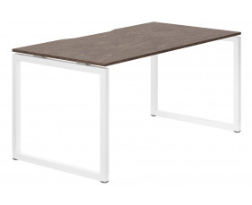 Lasso Hooped Leg Single Bench Desk (Pitted Steel)