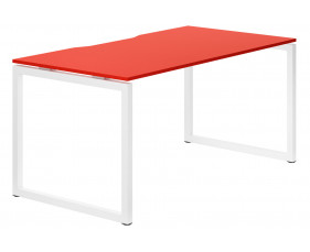Campos Hooped Leg Single Bench Desk (Red)