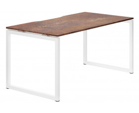 Lasso Hooped Leg Single Bench Desk (Rusted Steel)