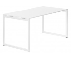 Campos Hooped Leg Single Bench Desk (White)