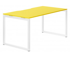 Campos Hooped Leg Single Bench Desk (Yellow)