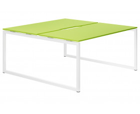 Campos hooped leg 2 person back to back bench desk (green)