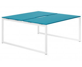 Campos Hooped Leg 2 Person Back To Back Bench Desk (Light Blue)