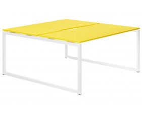 Campos Hooped Leg 2 Person Back To Back Bench Desk (Yellow)
