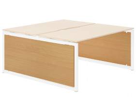 Lozano Infill For Hooped Leg Bench Desk (Beech)