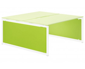 Campos Infill For Hooped Leg Bench Desk (Green)