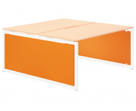 Campos Infill For Hooped Leg Bench Desk (Orange)