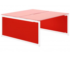 Campos Infill For Hooped Leg Bench Desk (Red)