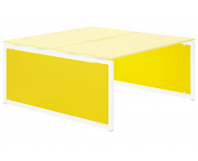 Campos Infill For Hooped Leg Bench Desk (Yellow)