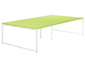 Campos Hooped Leg 10-12 Person Meeting Table (Green)