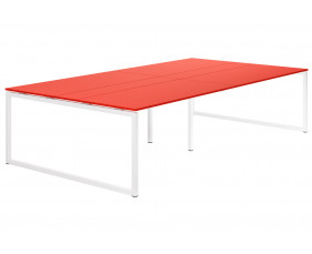 Campos Hooped Leg 10-12 Person Meeting Table (Red)