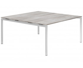 Lasso H-Leg 6-8 Person Meeting Table (Platinum Oak)