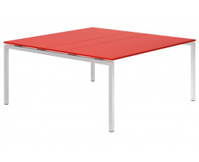 Campos H-Leg 6-8 Person Meeting Table (Red)